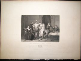 After C.R. Leslie C1840 LG Folio Antique Print. The Taming of The Shrew